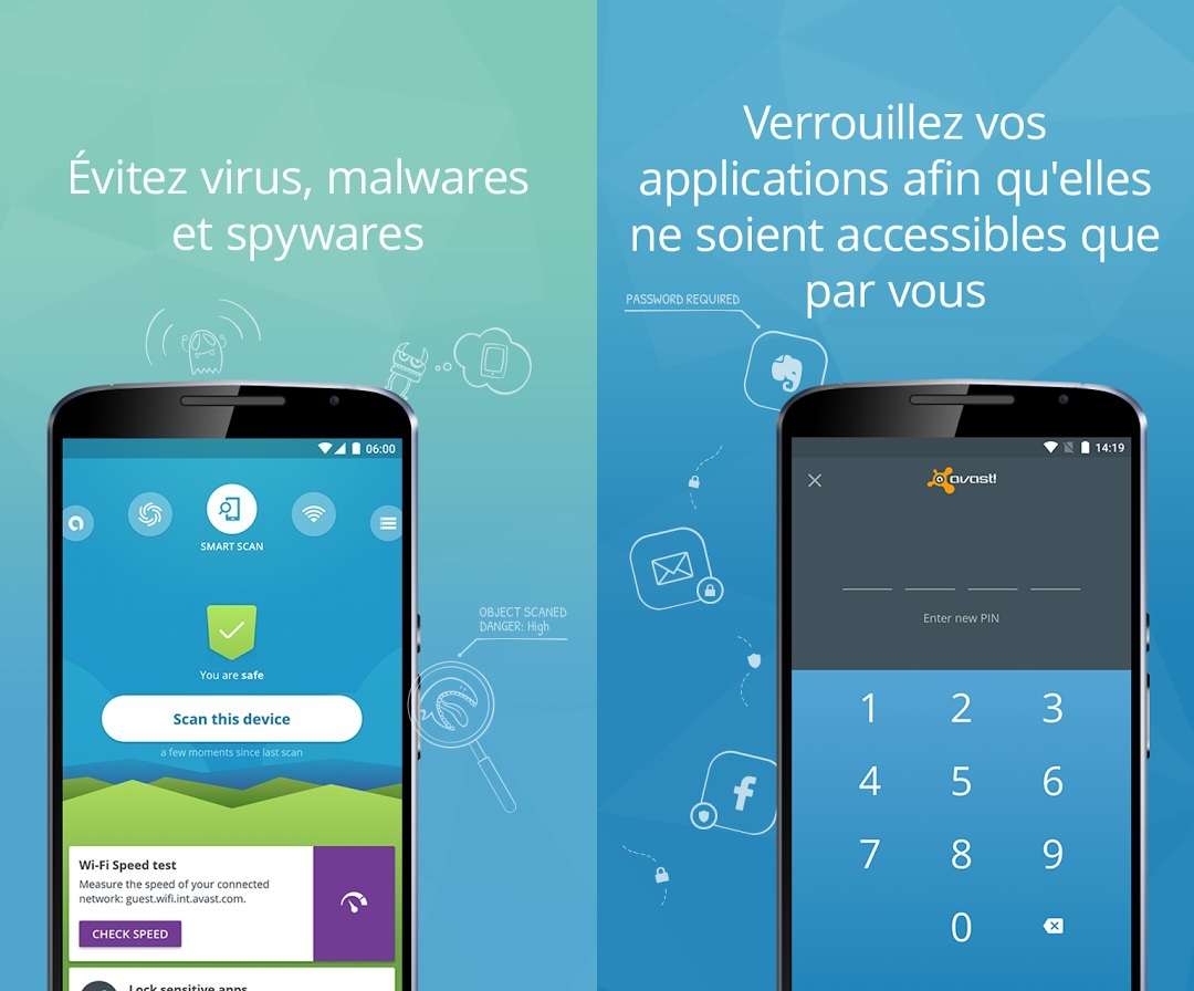 Capture d'écran Avast Mobile Security Android