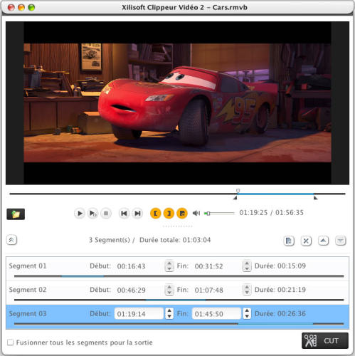 Capture d'écran Xilisoft Clippeur Vidéo pour Mac