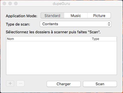 Capture d'écran dupeGuru Mac