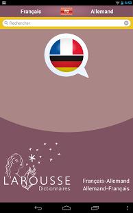 Capture d'écran Dictionnaire allemand-français