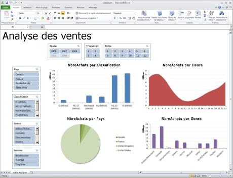 Capture d'écran Microsoft office excel 2007