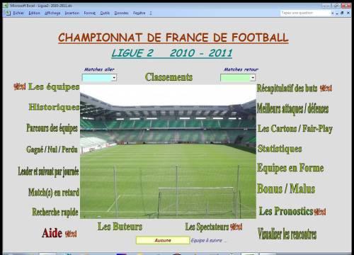 Capture d'écran Ligue2 2010-2011