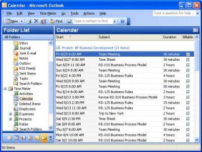 Capture d'écran Time Meter for Microsoft Outlook