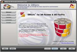 Capture d'écran DBSync for Access & MS FoxPro