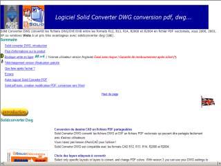 Capture d'écran Solid converter DWG