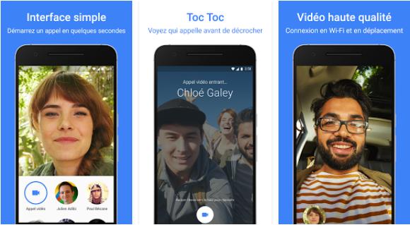 Capture d'écran Google Duo – iOS
