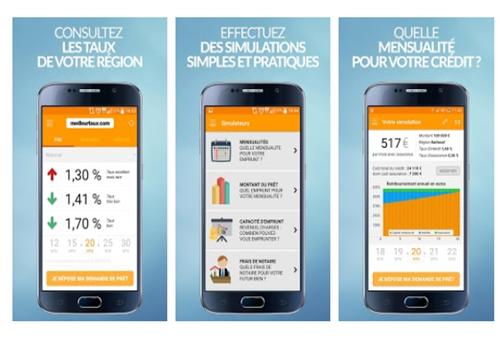 Capture d'écran Meilleurtaux.com iOS