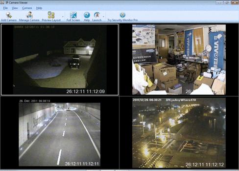 Capture d'écran IP Camera Viewer