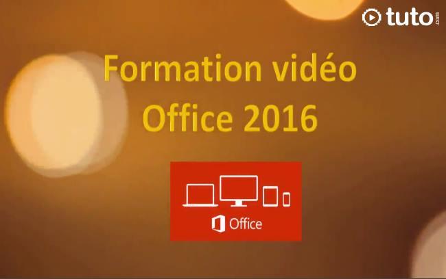 Capture d'écran Formation Microsoft Office 2016 en vidéo
