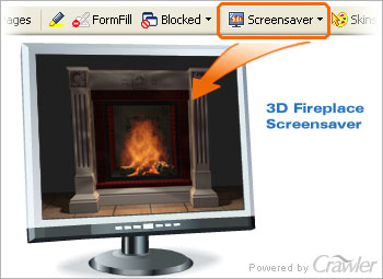 Capture d'écran Crawler 3D Fireplace Screensaver
