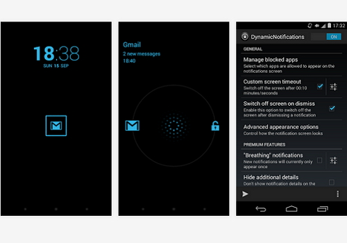 Capture d'écran DynamicNotifications Android