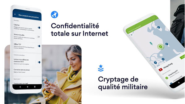Capture d'écran NordVPN Android