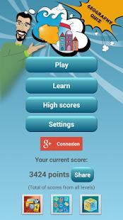 Capture d'écran Géographie Quiz