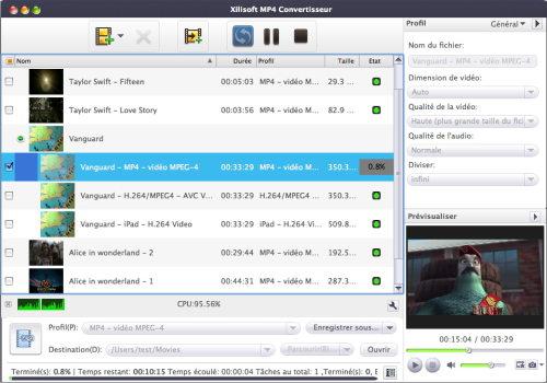 Capture d'écran Xilisoft MP4 Convertisseur pour Mac