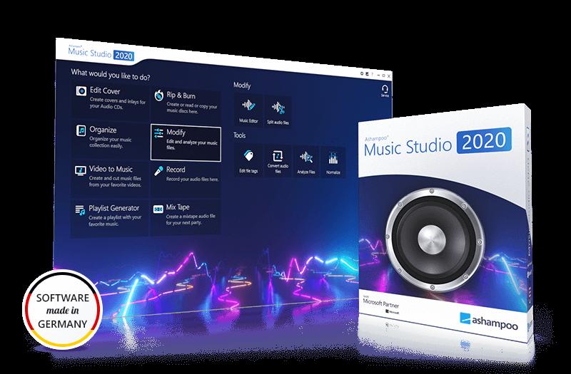 Capture d'écran Ashampoo Music Studio 2020