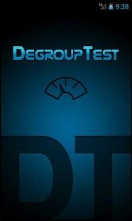 Capture d'écran DegroupTest