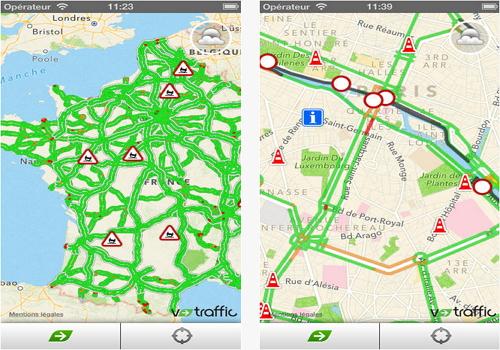 Capture d'écran V-Traffic iOS
