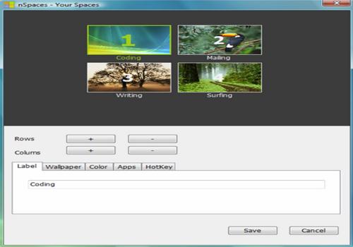 Capture d'écran nSpaces