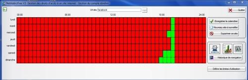 Capture d'écran Contrôle parental NetAddictSoft