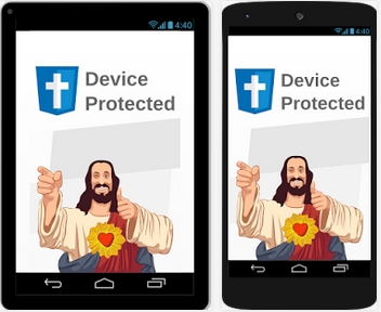 Capture d'écran Jesus Antivirus android