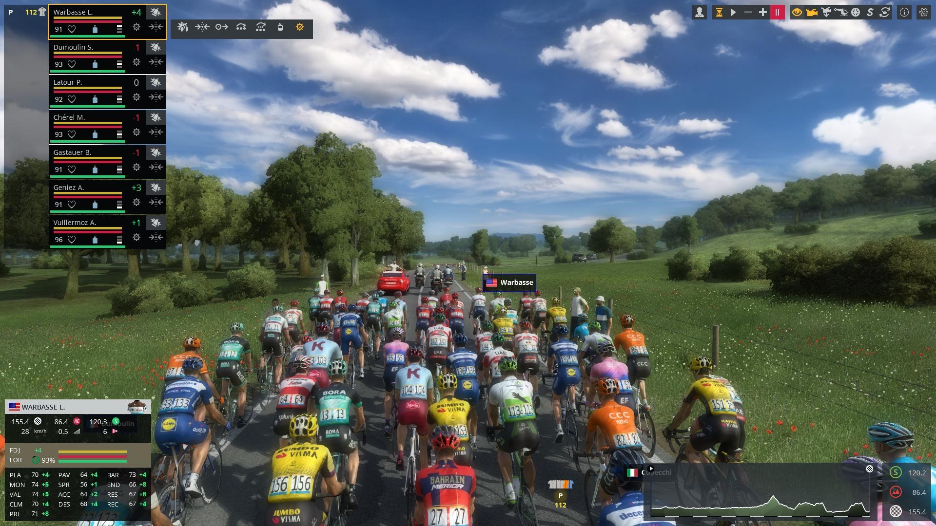 Capture d'écran Pro Cycling Manager 2019