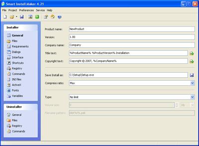 Capture d'écran Smart Install Maker