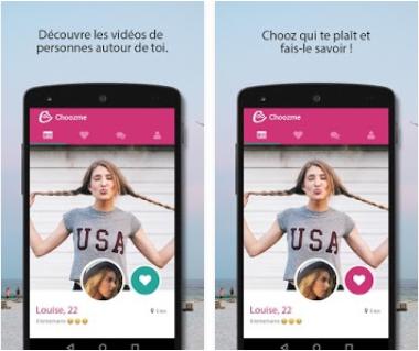 Capture d'écran Choozme android