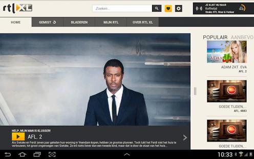 Capture d'écran RTL XL