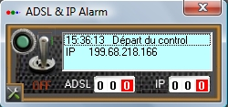 Capture d'écran ADSL & IP Alarm