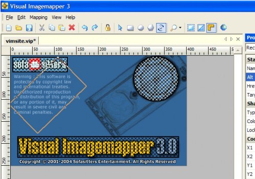 Capture d'écran Visual Imagemapper