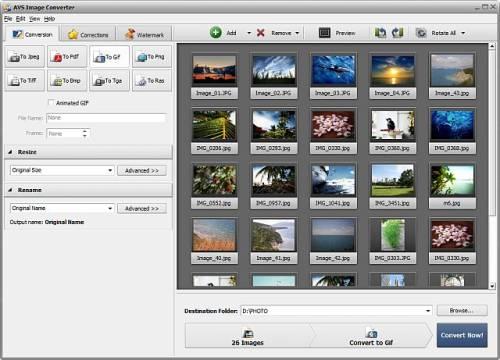 Capture d'écran AVS Image Converter