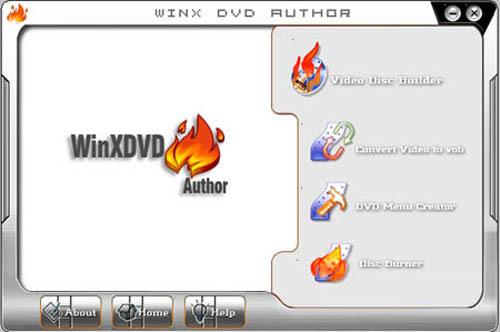 Capture d'écran WinX DVD Author