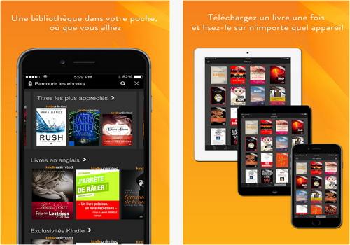 Capture d'écran Kindle iOS
