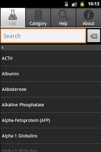 Capture d'écran Constantes Biologiques