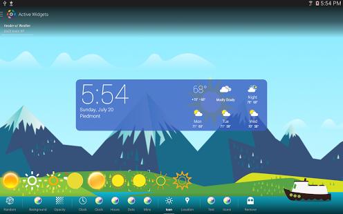 Capture d'écran Icônes météo de couleur (HDW)