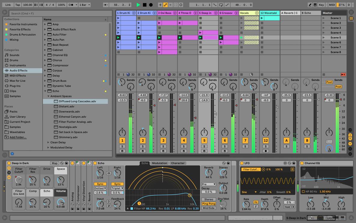 Capture d'écran Ableton Live Mac