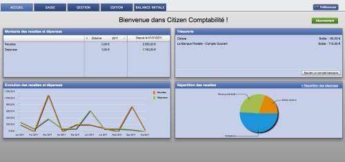 Capture d'écran Citizen Comptabilité pour Associations