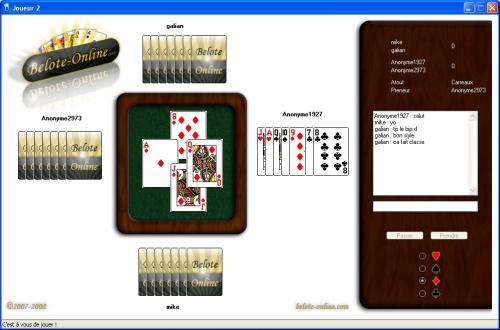 Capture d'écran Belote-Online (belote en ligne)