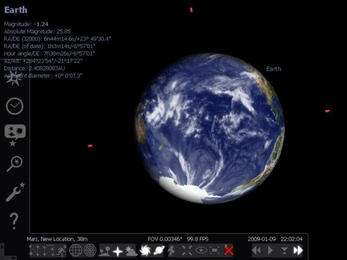 Capture d'écran Stellarium