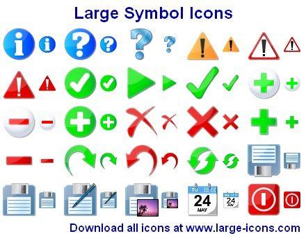 Capture d'écran Large Symbol Icons