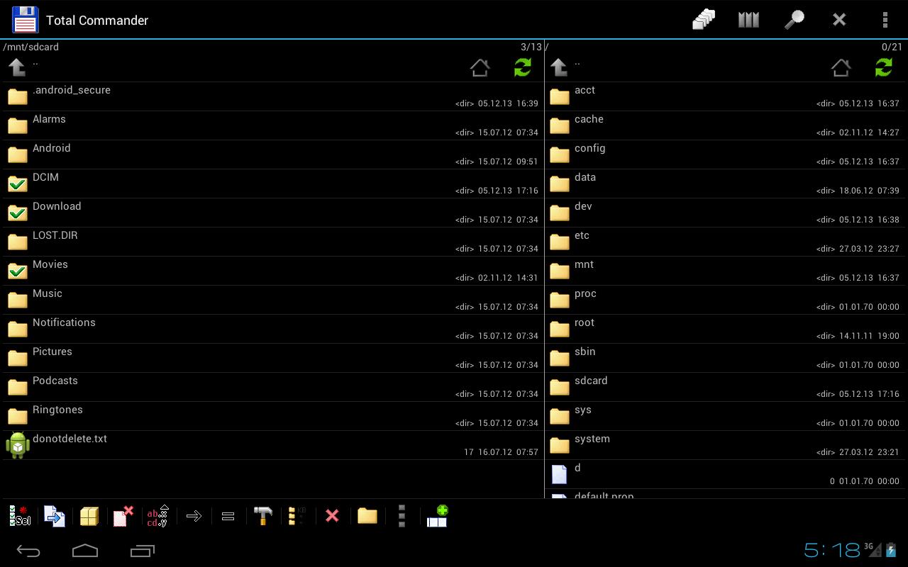 Capture d'écran Total Commander Android 📱