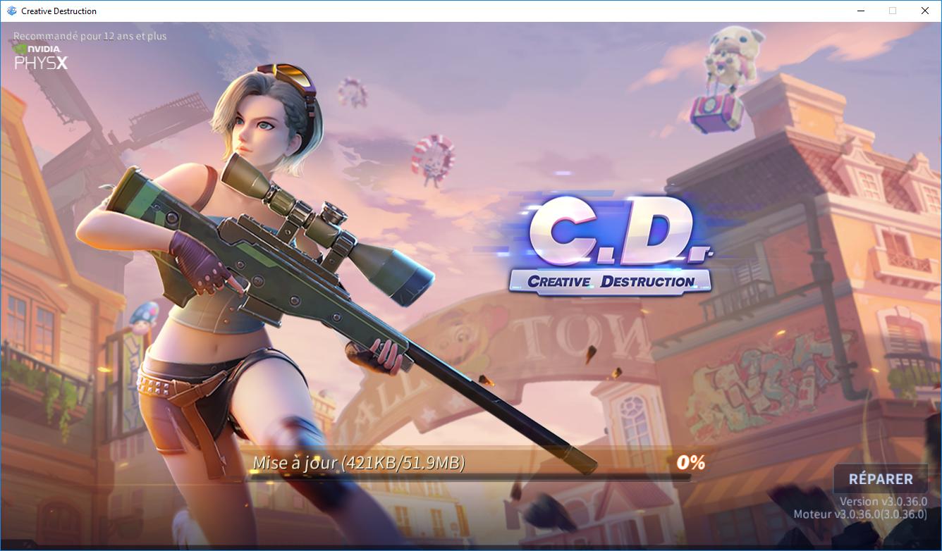 Capture d'écran Creative Destruction PC Client