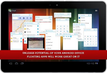 Capture d'écran Floating Apps (multitasking)