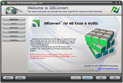Capture d'écran DBConvert for Excel & MySQL