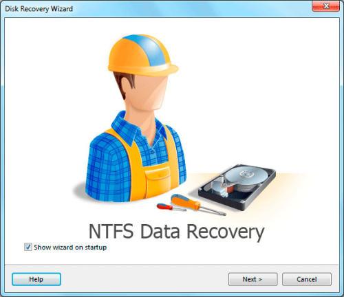 Capture d'écran NTFS Data Recovery