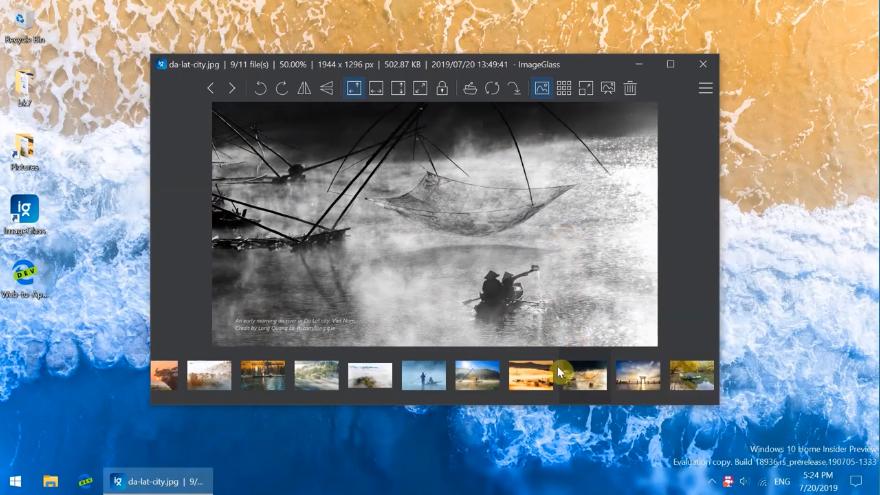 Capture d'écran ImageGlass