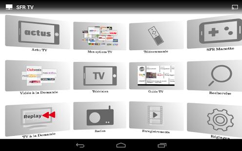 Capture d'écran SFR TV iOS