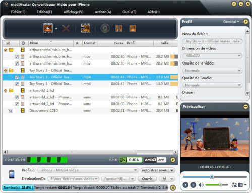 Capture d'écran mediAvatar Convertisseur Vidéo iPhone