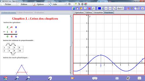 Capture d'écran MathEOS Linux