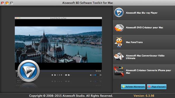 Capture d'écran Aiseesoft BD Software Toolkit  pour Mac